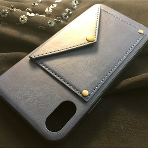 SASSY CHIC BUTTON POCKET WALLET CASE FOR IPHONE X